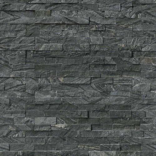 Glacial Black Stacked Stone Panels