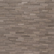 Gray Oak 3D Mini Stacked Stone Panels