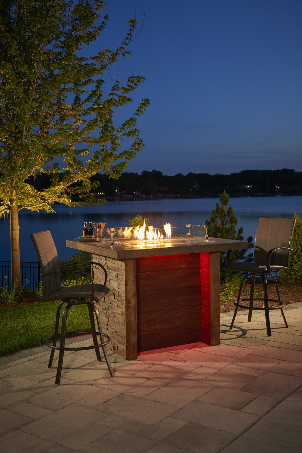 Outdoor Greatroom Marquee Pub Fire Pit Table - 183-MARQUEE