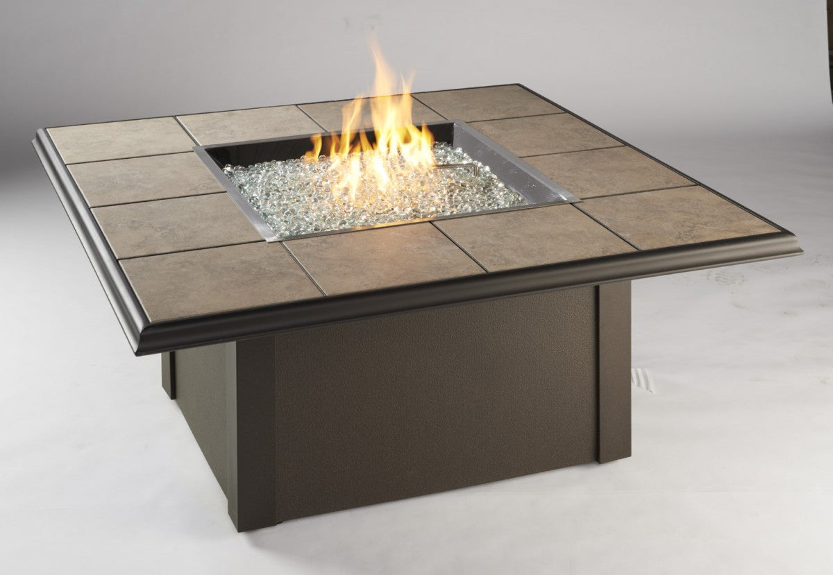 Outdoor Greatroom Square Napa Valley Fire Pit Table - Black - 183-NV-2424-BLK-K