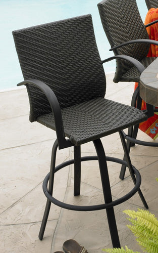 Outdoor Greatroom Naples Swivel Barstool Set - NAPLES-4030-L