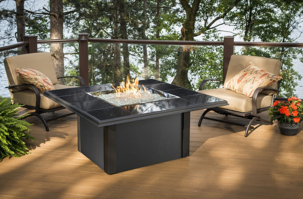 Outdoor Greatroom Square Napa Valley Fire Pit Table - Brown - 183-NV-2424-BRN-K