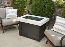 Outdoor Greatroom Providence Fire Pit Table with White Onyx Top - PROV-1224-WO-K
