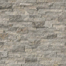 Silver Travertine Stacked Stone Panels
