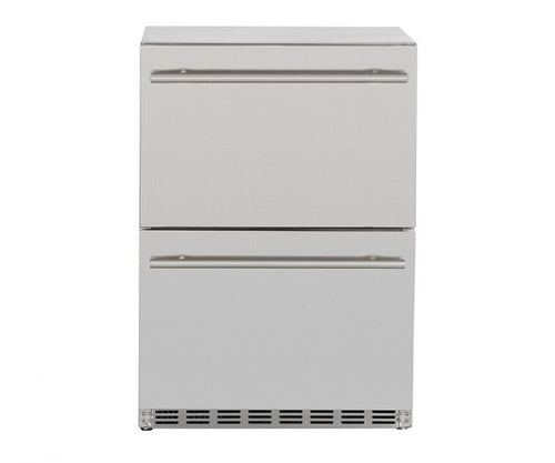 Summerset 5.3 cube UL Deluxe 2-Drawer Refrigerator w/Locking Door - SSRFR-D2D