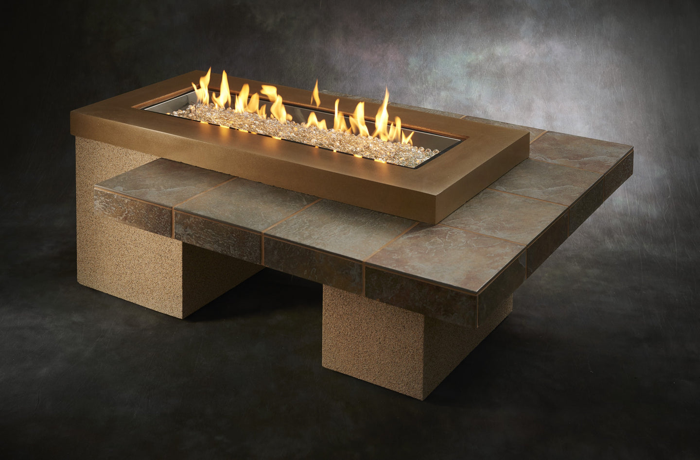 Outdoor Greatroom Uptown Fire Pit Table - Brown - 183-UPT-1242-BRN