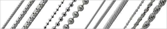 Rhodium Plated Silver Chains
