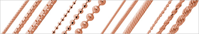Rose Gold Plated Silver Chains