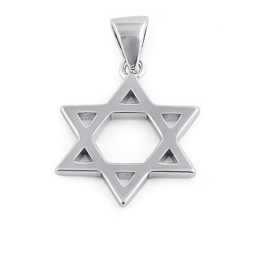 Sterling Silver 20mm Star of David Pendant