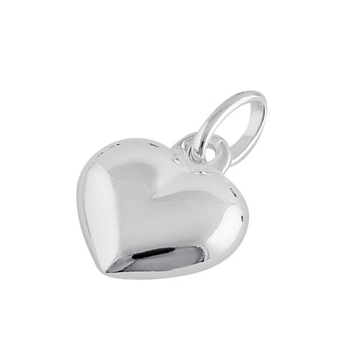 Sterling Silver Bubble Heart Pendant