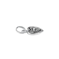 Sterling Silver Small Oxidized Filigree Heart Pendant