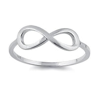 Solid 14K White Gold Infinity Ring