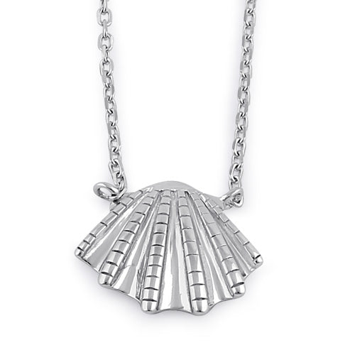Sterling Silver Clam Necklace