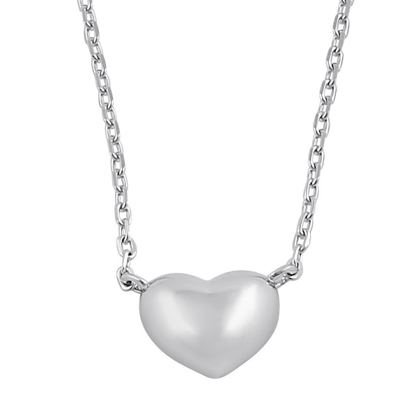 Sterling Silver Bubble Heart Necklace