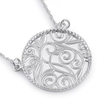 Sterling Silver Circle Filigree Necklace