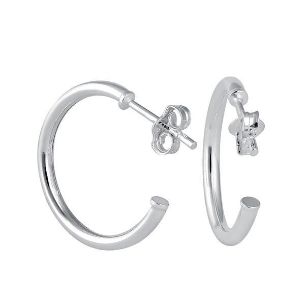 Sterling Silver 19mm x 2mm Hoop Earrings