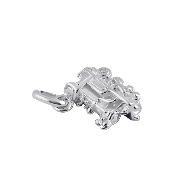 Sterling Silver Toy Train Pendant