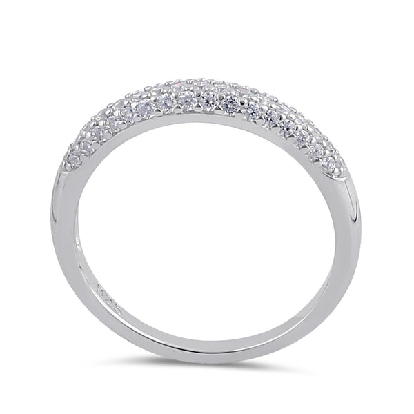Sterling Silver Clear CZ Band Ring