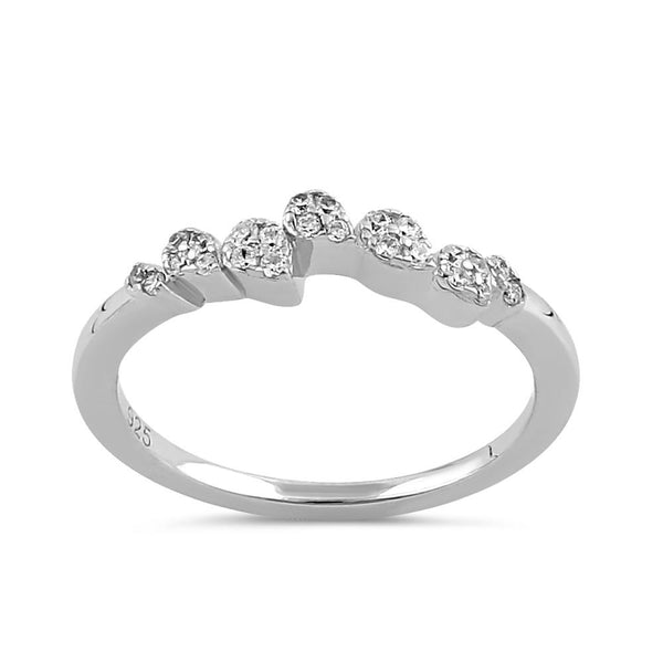 Sterling Silver Clear CZ Sparkle Ring