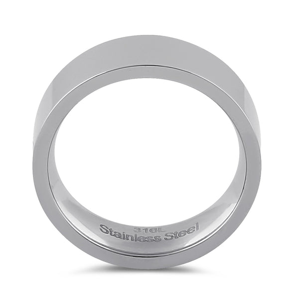 Stainless Steel Men's 7mm Wedding Band