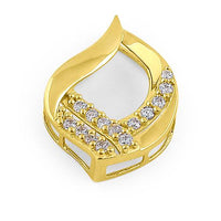 Solid 14K Yellow Gold Eternal Flame CZ Pendant