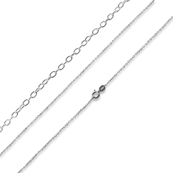 Rhodium Sterling Silver 20