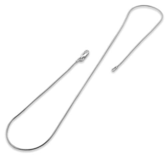 Sterling Silver Italian Snake Chain 0.9 MM