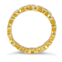 Gold Plated Sterling Silver Eternity Bubbles Clear CZ Ring