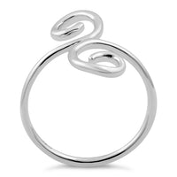 Sterling Silver Double Swirl Ring