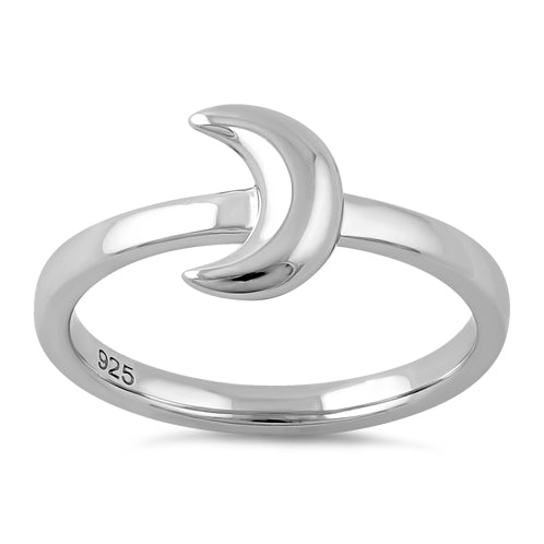 Sterling Silver Half Moon Ring