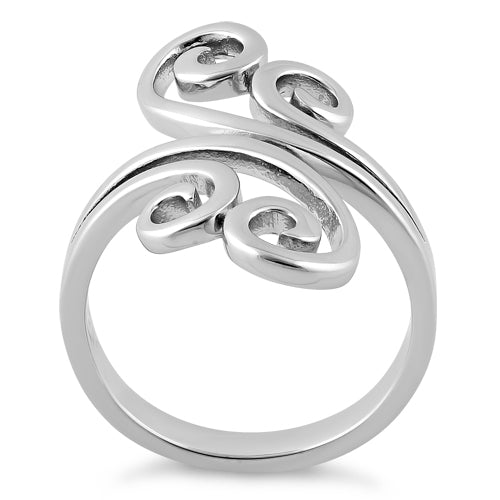 Sterling Silver Split Swirl Ring