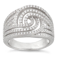 Sterling Silver Galaxy Pave CZ Ring