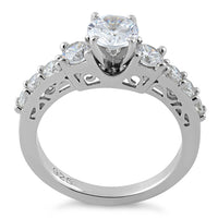 Sterling Silver Graduated CZ Ring
