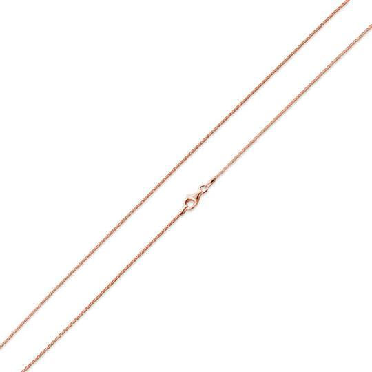 14K Rose Gold Plated Sterling Silver Spiga Chain 1.2MM