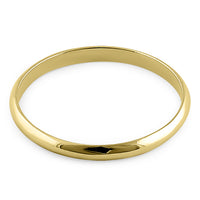 Solid 14K Yellow Gold 2mm Wedding Band