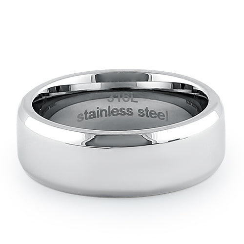 Stainless Steel 7mm High Polish Band Ring
