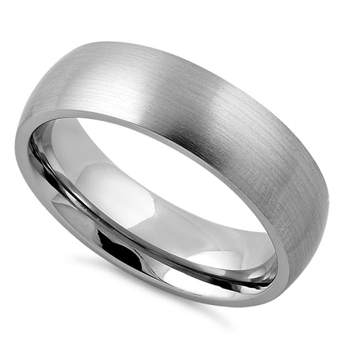 Stainless Steel Satin Finish Wedding Band Ring