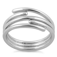 Sterling Silver Abstract Crooked Ring