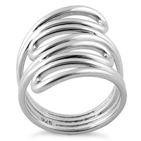 Sterling Silver Abstract Whirl Ring