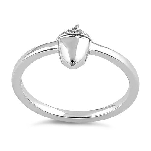 Sterling Silver Acorn Ring