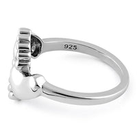 Sterling Silver Baby Feet Ring