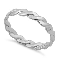 Sterling Silver Braided Band Ring