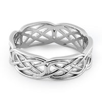 Sterling Silver Carrick Bend Knot Infinity Band