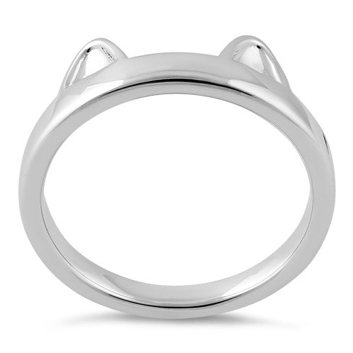 Sterling Silver Cat Ear Ring