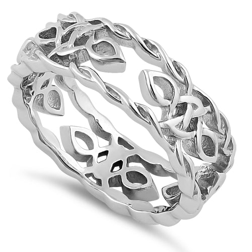 Sterling Silver Celtic Autumn Eternity Ring