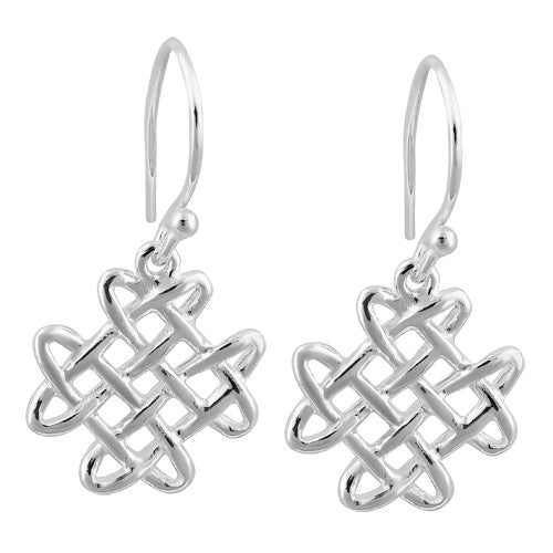 Sterling Silver Celtic Knot Hook Earrings