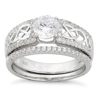 Sterling Silver Celtic Pave CZ Ring
