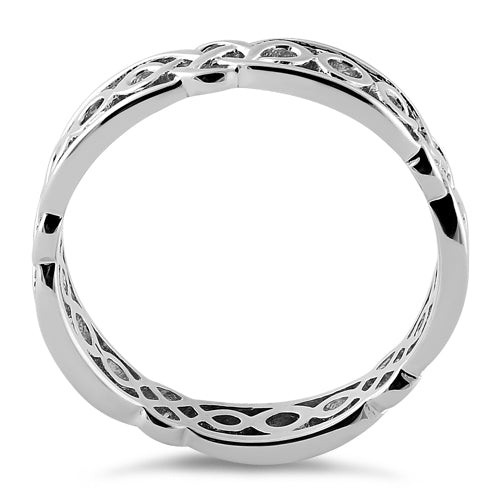 Sterling Silver Celtic Style Eternity Ring