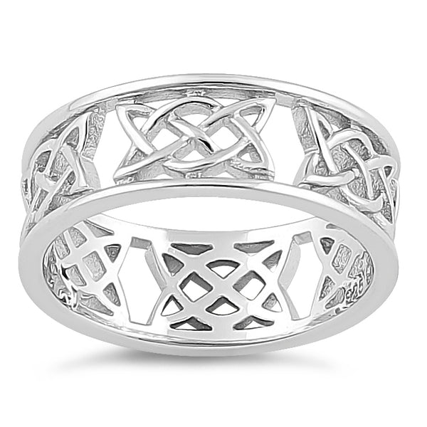 Sterling Silver Celtic Style Ring