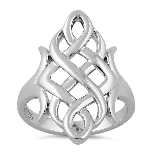 Sterling Silver Celtic Swirl Ring
